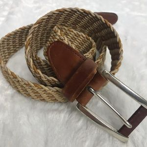 Men's braided belt 44 no holes made in Canada